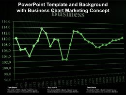 Powerpoint Template And Background With Business Chart Marketing Concept