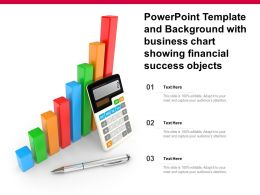 Powerpoint Template And Background With Business Chart Showing Financial Success Objects