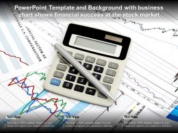 Powerpoint Template And Background With Business Chart Shows Financial Success At The Stock Market