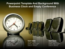 Powerpoint Template And Background With Business Clock And Empty Conference