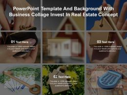 Powerpoint Template And Background With Business Collage Invest In Real Estate Concept