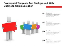 Powerpoint Template And Background With Business Communication