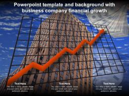 Powerpoint Template And Background With Business Company Financial Growth