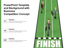 Powerpoint Template And Background With Business Competition Concept