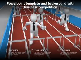 Powerpoint Template And Background With Business Competition