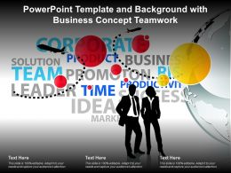 Powerpoint Template And Background With Business Concept Teamwork