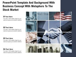 Powerpoint Template And Background With Business Concept With Metaphors To The Stock Market