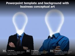 Powerpoint Template And Background With Business Conceptual Art