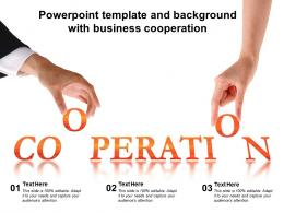 Powerpoint Template And Background With Business Cooperation