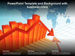 Powerpoint Template And Background With Business Crisis