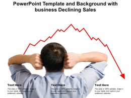 Powerpoint Template And Background With Business Declining Sales