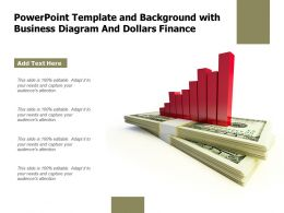 Powerpoint Template And Background With Business Diagram And Dollars Finance