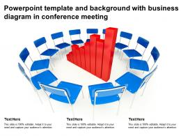 Powerpoint Template And Background With Business Diagram In Conference Meeting