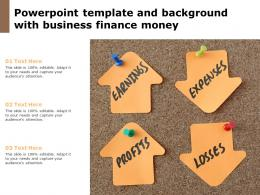 Powerpoint Template And Background With Business Finance Money