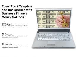 Powerpoint Template And Background With Business Finance Money Solution