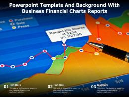 Powerpoint Template And Background With Business Financial Charts Reports