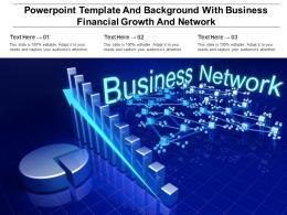 Powerpoint Template And Background With Business Financial Growth And Network