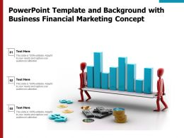 Powerpoint Template And Background With Business Financial Marketing Concept