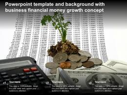 Powerpoint Template And Background With Business Financial Money Growth Concept