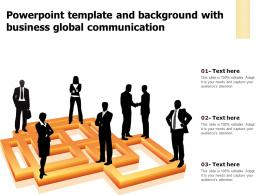 Powerpoint Template And Background With Business Global Communication