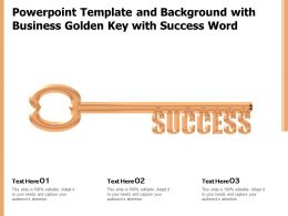 Powerpoint Template And Background With Business Golden Key With Success Word