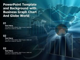Powerpoint Template And Background With Business Graph Chart And Globe World