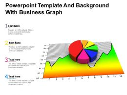 Powerpoint Template And Background With Business Graph