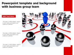 Powerpoint Template And Background With Business Group Team