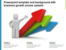 Powerpoint Template And Background With Business Growth Arrows Upward