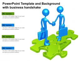 Powerpoint Template And Background With Business Handshake