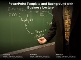 Powerpoint Template And Background With Business Lecture