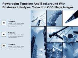 Powerpoint Template And Background With Business Lifestyles Collection Of Collage Images