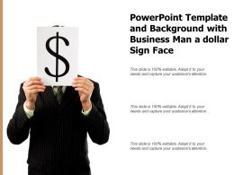 Powerpoint Template And Background With Business Man A Dollar Sign Face
