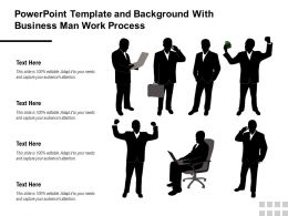 Powerpoint Template And Background With Business Man Work Process