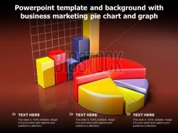 Powerpoint Template And Background With Business Marketing Pie Chart And Graph