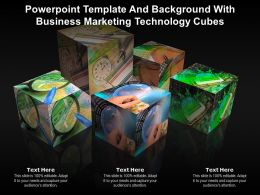 Powerpoint Template And Background With Business Marketing Technology Cubes