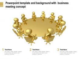 Powerpoint Template And Background With Business Meeting Concept
