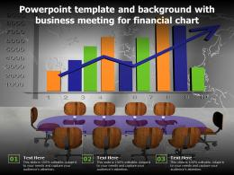 Powerpoint Template And Background With Business Meeting For Financial Chart