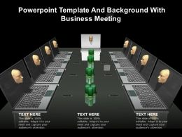 Powerpoint Template And Background With Business Meeting