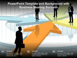 Powerpoint Template And Background With Business Meeting Success