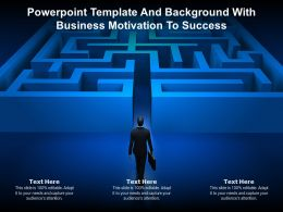 Powerpoint Template And Background With Business Motivation To Success