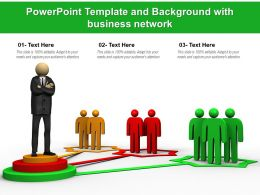 Powerpoint Template And Background With Business Network