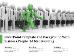 Powerpoint Template And Background With Business People 3d Men Running