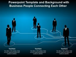 Powerpoint Template And Background With Business People Connecting Each Other