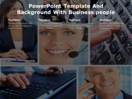 Powerpoint Template And Background With Business People
