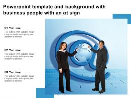 Powerpoint Template And Background With Business People With An At Sign