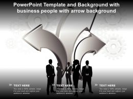 Powerpoint Template And Background With Business People With Arrow Background