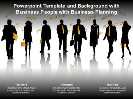 Powerpoint Template And Background With Business People With Business Planning