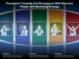 Powerpoint Template And Background With Business People With Marketing Strategy