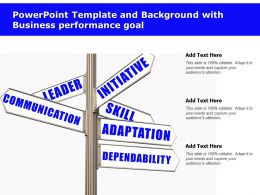 Powerpoint Template And Background With Business Performance Goal